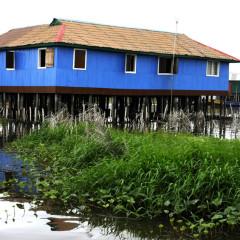 Maison bleue, Ganvié 2013