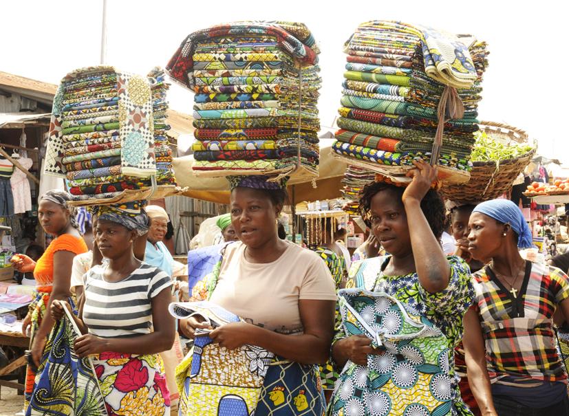 Cultiver le port du pagne 2, Cotonou, Bénin 2013