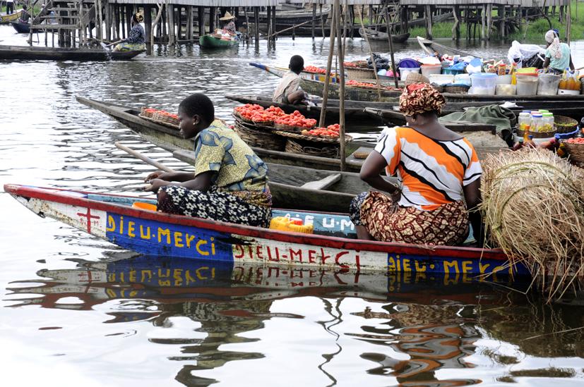 Marché flottant 2, Ganvié 2013