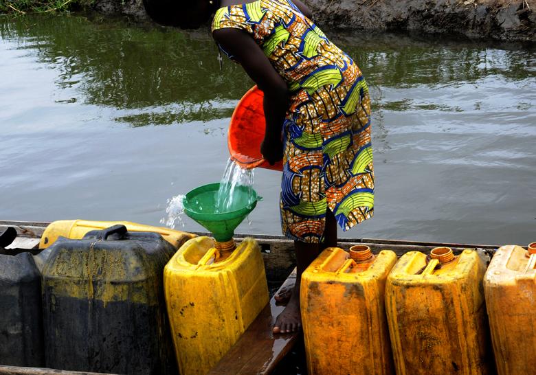Abondance de l'eau, rareté de l'eau, Ganvié 2018